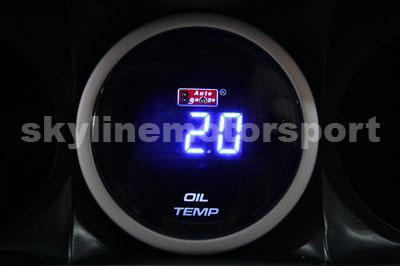 52mm Oil Temp Digital Blue LED