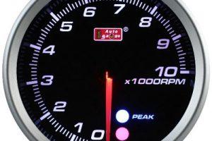 80mm RPM Meter Black