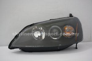 Honda Civic Es 01-04 Projector H/L LED Ring Black