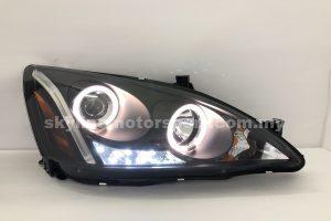 Honda Accord 03-06 Projector H-L LED Ring Black
