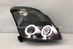 Suzuki Swift 06-10 Projector H-L LED Ring Black
