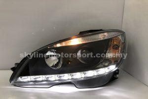 Mercedes C-Class W204 07-10 Projector H/L DRL LED Black