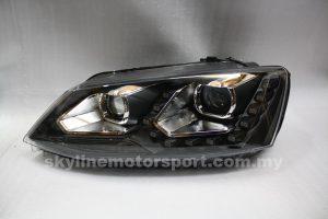 Volkswagen Jetta 12-13 Projector H-L DRL Led Black