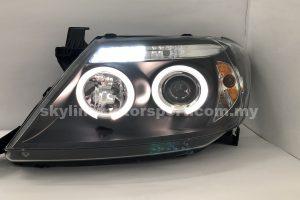 Toyota Hilux Vigo 04-09 Projector H/L LED Ring Black
