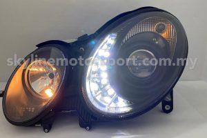 Mercedes E-Class W211 02-06 Projector H/L DRL LED Black (H7)