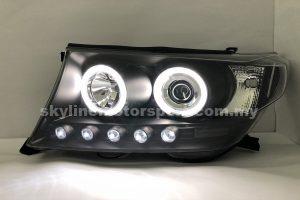 Toyota Land Cruiser FJ200 07-10 Projector H/L CCFL Ring Black
