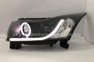 Chevrolet Cruze 10-15 Projector H/L DRL Light Strip LED Ring Black