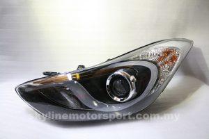 Hyundai Elantra 12-13 Projector H-L DRL Black