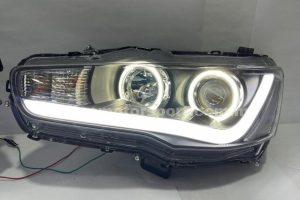 Mitsubishi Lancer 07-11 Projector H/L DRL  Light Bar With Led Ring Black