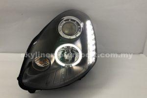 Nissan Skyline G-35 4DR 03-04 Projector H/L DRL LED Ring Black