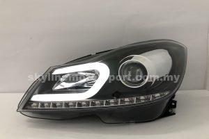 Mercedes C-Class W204 11-13 Projector H-L DRL Led Motor Black