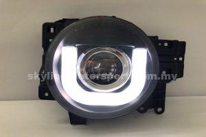 Toyota FJ Cruiser 07-Up Projector H/L DRL LED Black