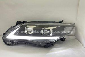 Toyota Altis 10-13 Projector H-L DRL Led Black