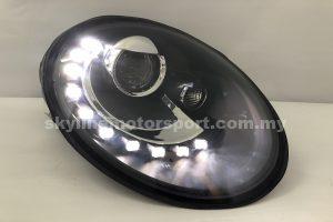 Volkswagen Beetle 06-11 Projector H/L DRL LED Black