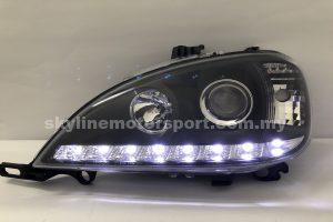 Mercedes Benz M-Class W163 02-05 Projector H/L DRL LED Black