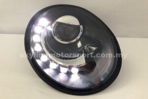 Volkswagen Beetle 98-05 Projector H/L DRL LED Black