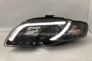 Audi A4 B7 05-08 Projector H/L DRL LED Light Strip Black