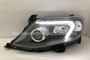 Toyota Fortuner 12-15 projector H-L (D4S)DRL Led Black