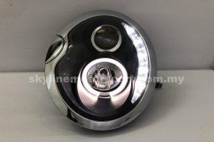 Mini Cooper R50/52/53 01-06 Projector H/L DRL LED Ring Black