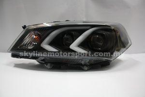 Proton Saga FLX Projector H-L DRL Led Black