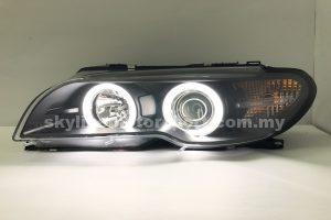 BMW E46 Coupe CI 03-05 2DR Projector H/L CCFL Ring Black (D2S)