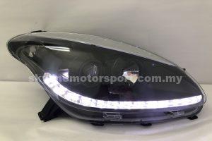 Perodua Myvi 05-10 Projector H/L DRL LED Black