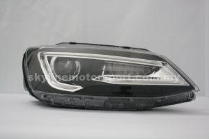 Volkswagen Jetta 12-15 Projector H-L Audi Style DRL Led Black