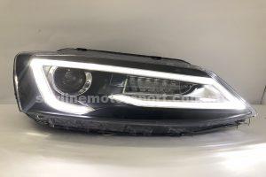 Volkswagen Jetta 12-15 Projector H/L Audi Style DRL LED Black