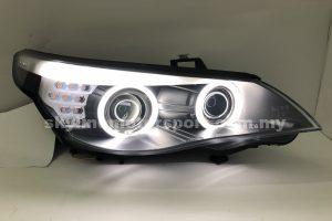 BMW E60 07-09 Dual Projector H/L CCFL Ring Black (D1S)