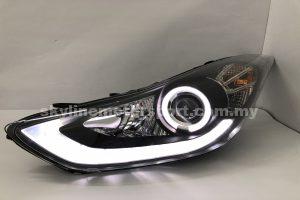 Hyundai Elantra 11-15 Projector H/L DRL LED Black