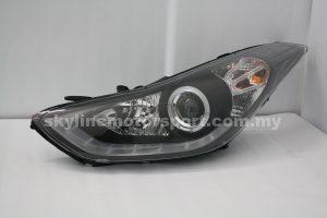 Hyundai Elantra 11-15 Projector H-L DRL Led Black