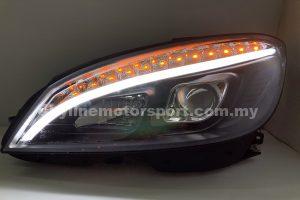 Mercedes Benz C-Class W204 07-10 Projector H/L DRL LED Light Strip Black