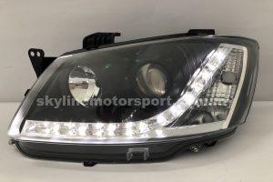 Proton Saga BLM Projector H/L DRL LED Black