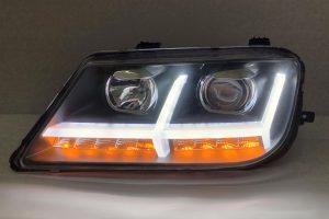 Proton Waja Projector H-L DRL Led Audi Style Black