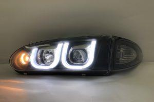 Proton Wira Projector H-L DRL Led U Style Black Glass