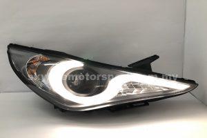 Hyundai Sonata 10-15 Projector H/L DRL LED Black