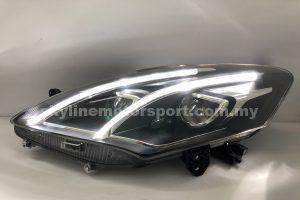 Perodua Alza 10-18 Projector H/L DRL LED Black (WSRF)