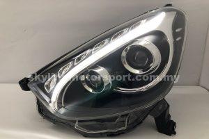 Perodua Myvi 11-15 Projector H/L DRL LED Black (WSRF)
