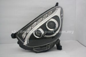 Perodua Myvi 11-15 Projector H/L DRL LED Black