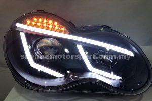 Mercedes Benz W203 00-06 Projector H/L Black (H1)