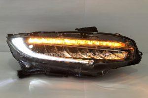 Honda Civic FC 16-20 Projector H/L DRL LED Black (WSRF)(LED)