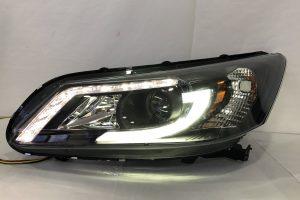 Honda Accord 14-17 Projector H/L DRL LED Black (H7)