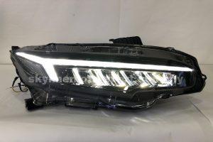 Honda Civic FC 16-20 Lamborghini Style LED H/L DRL Black (WSRF)(LED)