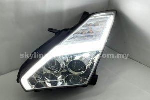 Nissan Skyline GTR R35 07-14 Dual Projector H/L DRL LED Chromed (WSRF)(D2S)