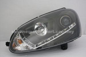 Volkswagen Golf Mk5 03-08 Projector H/L DRL LED Black(D1S)