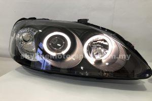 Honda Civic Ek 99-00 Projector H/L With Led Ring Black (H1)