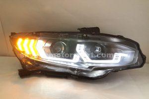 Honda Civic FC 16-20 Projector H/L DRL LED Black (WSRF)(H7)
