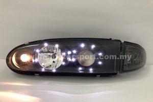Proton Wira Projector H/L DRL LED Black (NHF)
