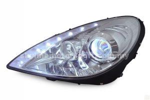 Mercedes SLK 04-11 Projector H/L DRL LED Chromed (H7)