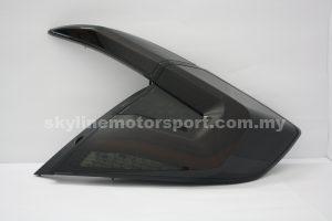 Honda Civic FC 16-19 LED T/L Light Bar Black 4Pc VIII (WSRF)